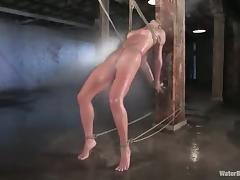 Babe with Great Ass Gets Bondage and Water Torture video