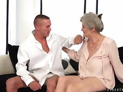 Granny, Big Cock, Cum in Mouth, Granny, Monster Cock, Riding