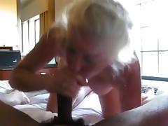 Blonde Mature Sucking BBC