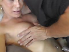 slut leather shemale with buttplug love sex