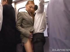 Bus, Asian, Bus, Handjob, Japanese, Public
