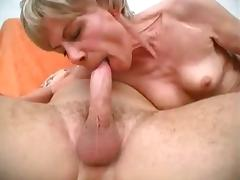 Grandma Loves His Hard Cock