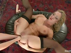 Anal Fisting, Blonde, Fisting, Stockings, Moaning, Anal Fisting
