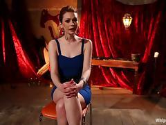 Lesbian BDSM Action with Dominatrix Fucking Justine Joli with Strapon