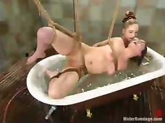 Brooke Bound enjoys hydrotherapeutic procedures in a cellar