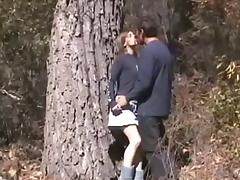 couple have sex outside