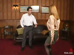 Boss Banging His Sexy Secretary in Wild Domination in the Office