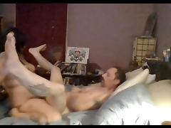 tattooed bbw with strap on pegging a guy