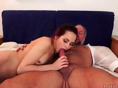 Slut rides old sponger dig up coupled with masturbates