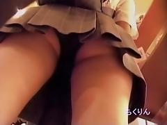 Hot Asian cuties sexy panty up skirts in the store CKRDV-006