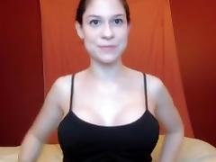 Slut with big tits sucks a sex toy