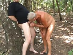 cum in old man mouth