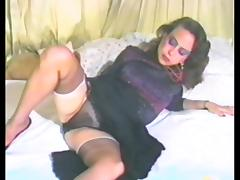 Bed, Bed, Panties, Penis, Pussy, Stockings
