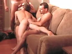 trio 2 old DADS bare FUCK play hairy gay BOY ass