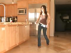 Sexy Chick Strips Off Her Jeans and Fucks Her Big Toy