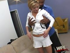 Interracial Reality Video of a White Wife with a Black Guy