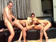 4some, Blonde, Blowjob, Doggystyle, Foursome, Group