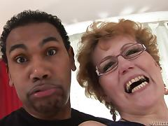 Mom and Boy, Big Cock, Black, Blowjob, Granny, Interracial
