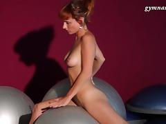 Acrobatic, Flexible, Gym, HD, Redhead, Softcore