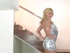 Masturbation sex clip with busty blonde skank Angela Sommers