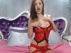 Abbie Angel dancing on webcam in sexy lingerie