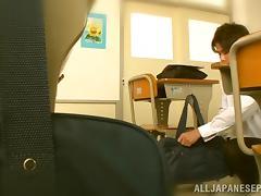 Rina Rukawa nasty Japanese teen enjoys bondage