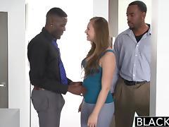 BLACKED Teen Jillian Janson Tries First Interracial Threesome