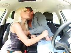 Satin, Babe, Blonde, Blowjob, Clothed, European