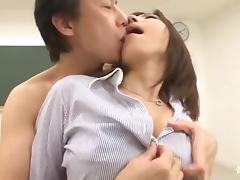 Mirei Yokoyama hot teacher gets drilled with oral cumshot
