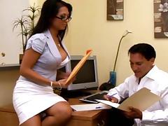All, Blowjob, Brunette, Couple, Glasses, Office