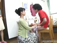 MILF, Asian, Blowjob, Couple, Japanese, Mature