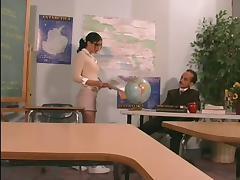 Teacher, Anal, Blowjob, Couple, Curvy, Doggystyle
