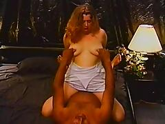 Hardcore interracial sex clip with chubby amateur blonde