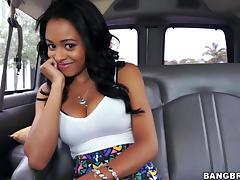 Car-fucking scene with lovely ebony chick Anya Ivy