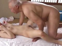 Teen, Asian, Couple, Cute, Japanese, Old Man