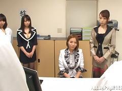 Teacher, Asian, Group, Japanese, Naughty, Office