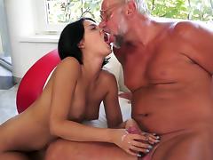 Young Coco de Mal receives senior cock