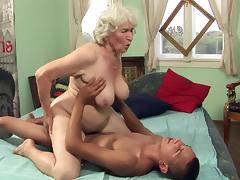 Granny, Blowjob, Couple, Facial, Granny, Hairy