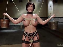 bound milf slave takes it from both ends