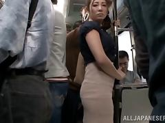 Teen, Asian, Bus, Fingering, Japanese, MILF