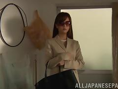 Yukina Kawai double fucked in old and young themed three way