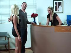 Office, Blonde, Ffm, Group, Office, Orgy
