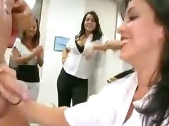 Office, CFNM, Office, Penis, Strip, Lady