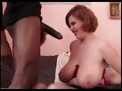 huge boobs gets her fill of large black cock